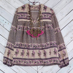☯️Vintage Sandstone Indian Blouse 70's☯️